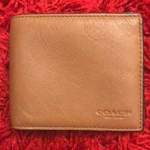 Compact double billfold wallet by COACH